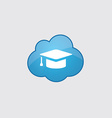 Blue cloud education icon vector image