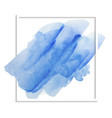 blue watercolor texture on a white background for vector image vector image