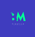 bm letter logo design with negative space concept vector image vector image