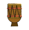 brasilian drum percussion bongo sketch vector image vector image