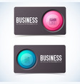 business card banners set vector image