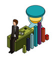business financial money vector image