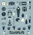 Camping and Outdoors Icons and Symbols vector image vector image