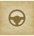 Car wheel on grunge background vector image vector image