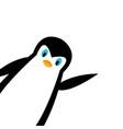 cartoon polar penguin vector image vector image