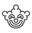clown mask line icon halloween mask vector image
