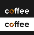 coffee label lettering for coffee market vector image