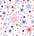 Colored snowflakes and circles vector image vector image