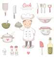 Cook set vector image