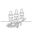 cosmetic vial with pipette continuous line art vector image vector image