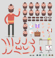 creation of a hipster character of all kinds vector image vector image