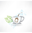 Cup of tea grunge icon vector image vector image