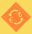 currency exchange sign euro and turkey lira vector image vector image
