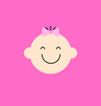 cute baby face icon symbol little baby girl vector image