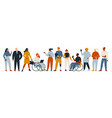 diverse group people entrepreneurs or vector image