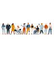 diverse group people entrepreneurs vector image