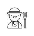 farmer icon agriculture icon harvest vector image