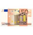 fifty euro banknote vector image vector image