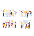 financial victories and achievements set vector image vector image