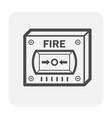 fire alarm button vector image