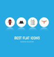 flat icon dress set of lingerie clothes singlet vector image vector image
