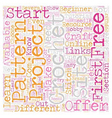 free crochet text background wordcloud concept vector image vector image