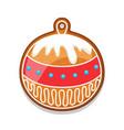 gingerbread cookies ball merry vector image vector image