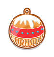 gingerbread cookies ball of merry vector image vector image