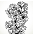 Graphically drawing black ink tree with graceful