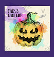 Halloween hand drawing pumpkin jack lantern