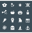 Halloween white icons set vector image vector image