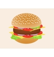 Hamburger or burger isolated on background Side vector image vector image