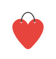 icon concept of heart-shaped shopping bag vector image