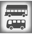 icons bus vector image vector image