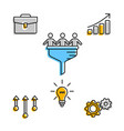 icons for business team in progress vector image