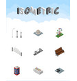 isometric architecture set of sitting turning vector image vector image