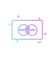 master card icon design vector image