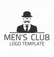 Men club logo vector image