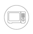 microwave oven icon design vector image