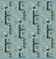 Modern geometric 3d meander seamless pattern