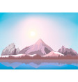 nature mountain landscape background vector image vector image