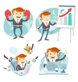 Office man hipster set showing a presentation vector image vector image