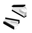 old staple puller or staple remover isolated on vector image vector image