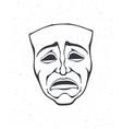 outline theatrical drama mask vintage opera