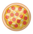 pizza icon in colorful silhouette in white vector image vector image