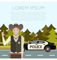 Police on the road Banner5 vector image vector image