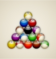 Pool balls triangle vector image