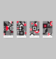 poster set with geometric shapes and pattern vector image vector image
