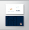 real estate abstract elegant logo and vector image vector image