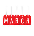 red march tags vector image vector image